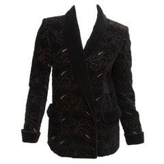 Fendi 365 Black Embroidered Velvet Jacket