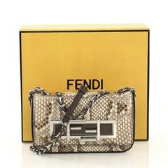 Fendi 3Baguette Crossbody Bag Python Mini