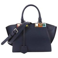 Fendi 3Jours Handbag Studded Leather Mini