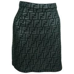 Fendi All Over Logo Skirt