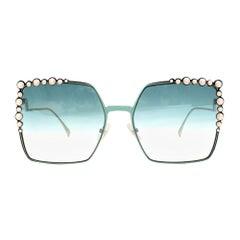 Fendi Aqua Can Eye Sunglasses one size