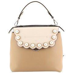 Fendi Back to School Backpack Pearl Embellished Leather Small