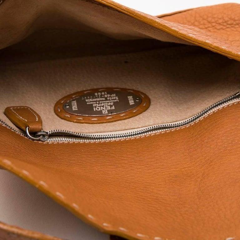 FENDI Baguette Bag in Gold Taurillon Leather 9