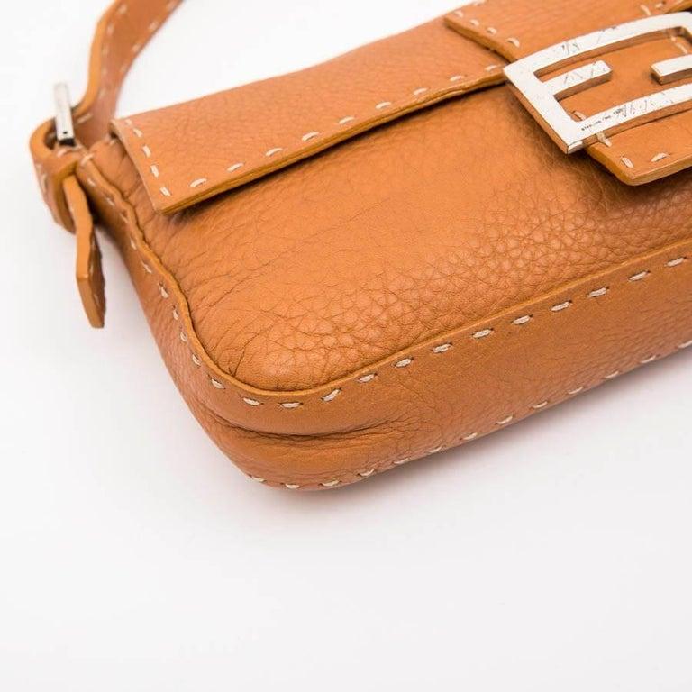 FENDI Baguette Bag in Gold Taurillon Leather 1