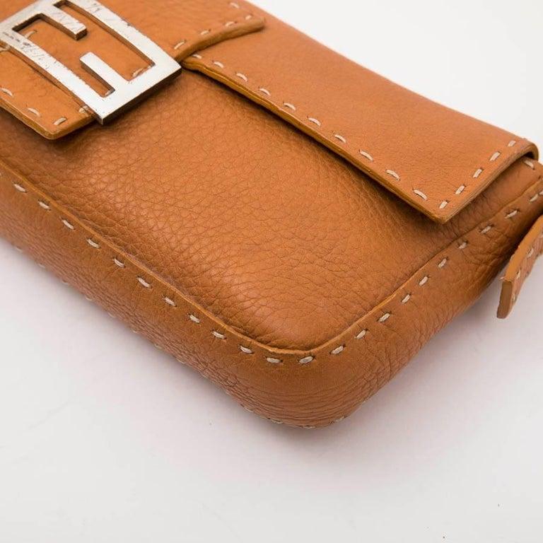FENDI Baguette Bag in Gold Taurillon Leather 2