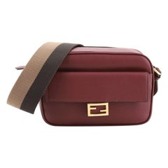Fendi Baguette Camera Crossbody Bag Leather