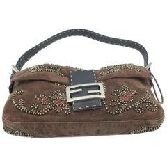 Fendi Baguette handbag in velvet and embroidery
