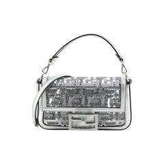 Fendi Baguette NM Bag Sequin Zucca Embroidered PU Mini
