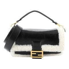 Fendi Baguette NM Bag Shearling and Leather Large