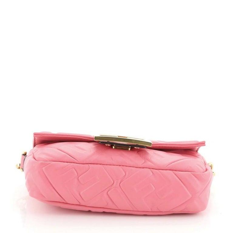 Women's or Men's Fendi Baguette NM Bag Zucca Embossed Leather Mini
