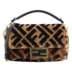Fendi Baguette NM Bag Zucca Shearling Mini