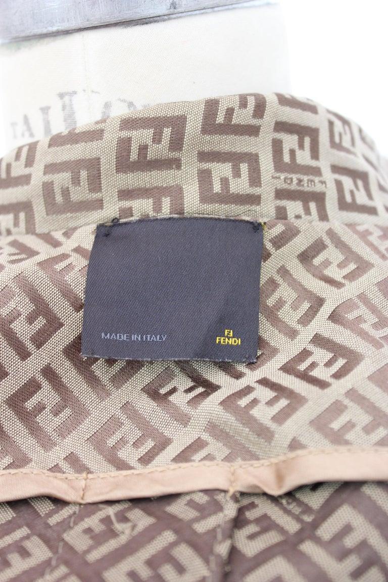 Fendi Beige Cotton Monogram Zucca Jacket 1990s For Sale 5