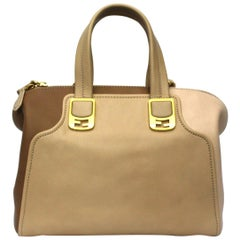 Fendi Beige Leather Chameleon Bag