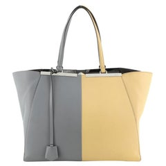 Fendi Bicolor 3Jours Bag Leather Large