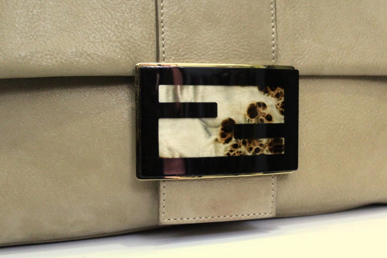 Brown Fendi Big Mama Leather Shoulder Bag For Sale