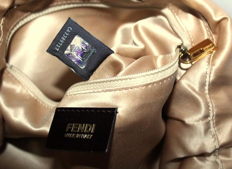Fendi Big Mama Leather Shoulder Bag For Sale 3
