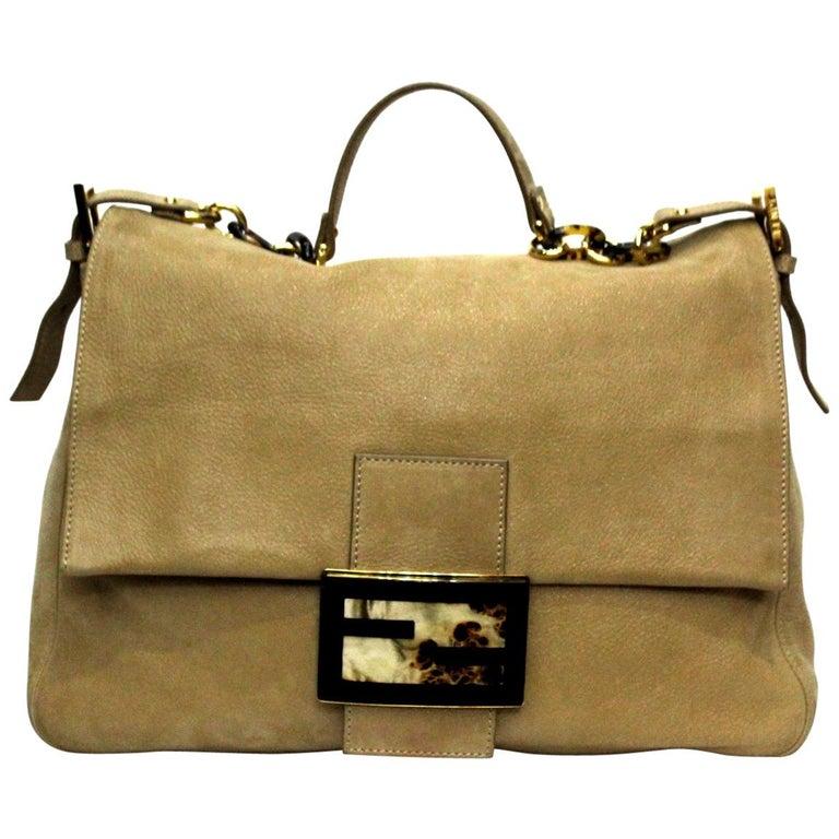 Fendi Big Mama Leather Shoulder Bag For Sale