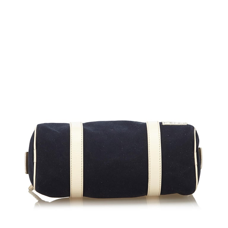 Women's Fendi Black Canvas Boston Bag For Sale