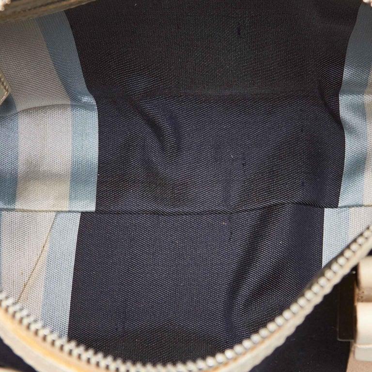 Fendi Black Canvas Boston Bag For Sale 1
