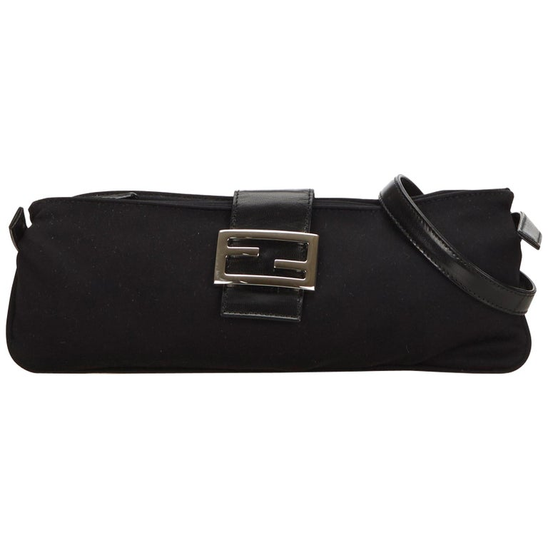 ae84e0198b2a Fendi Black Cotton Crossbody Bag at 1stdibs