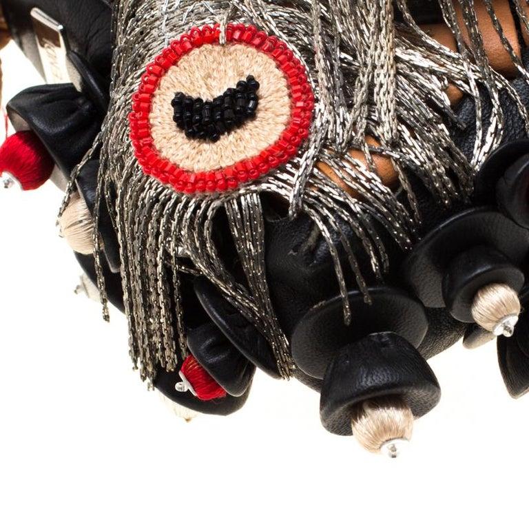 Fendi Black Embellished Micro Baguette Shoulder Bag 6