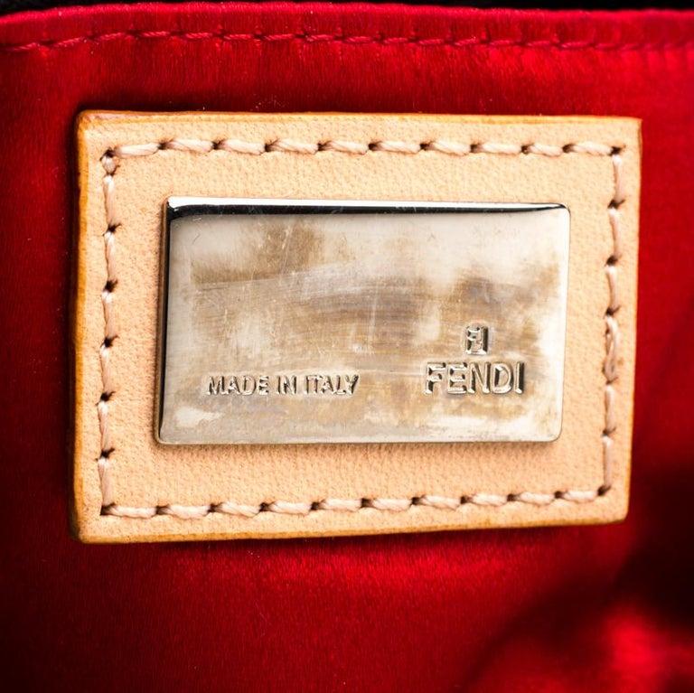 Fendi Black Embellished Micro Baguette Shoulder Bag 3