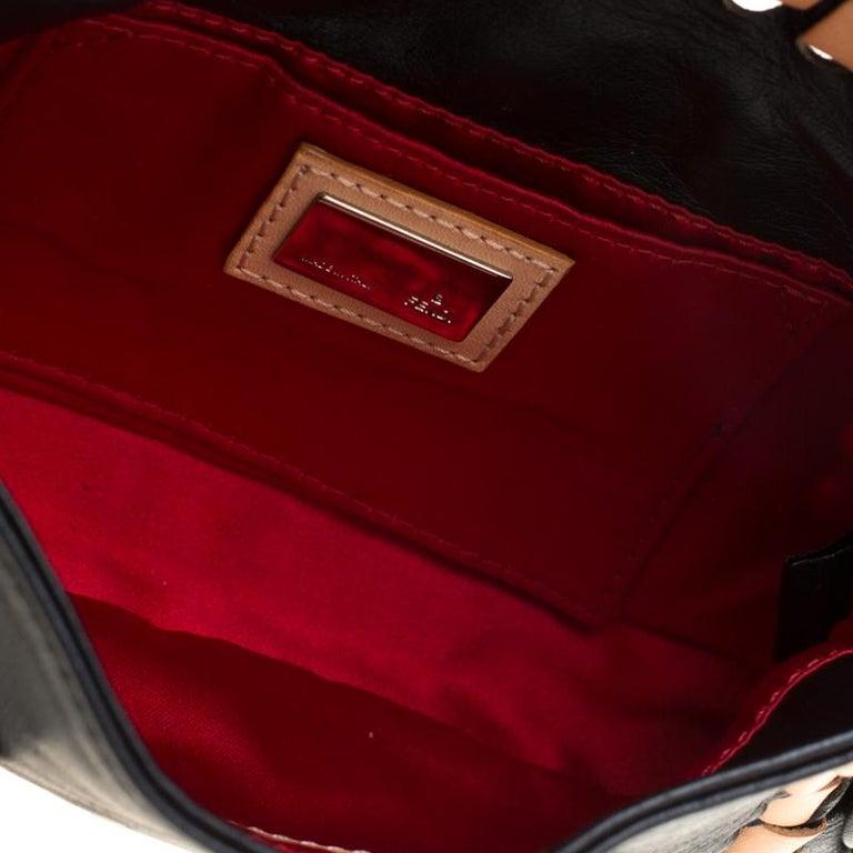 Fendi Black Embellished Micro Baguette Shoulder Bag 4