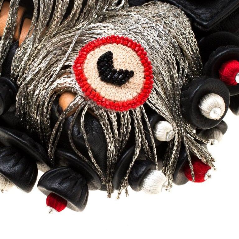 Fendi Black Embellished Micro Baguette Shoulder Bag 5