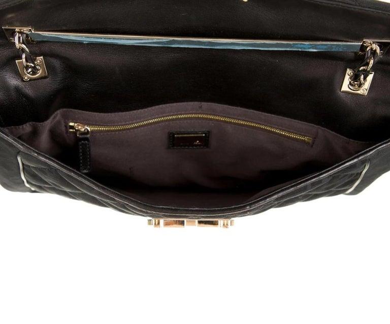 Women's Fendi Black Fabric Logo Zucca Gold Maxi Jumbo Baguette Shoulder Flap Bag For Sale