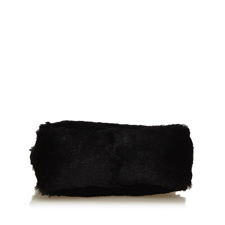 Women's Fendi Black Fur Handbag For Sale
