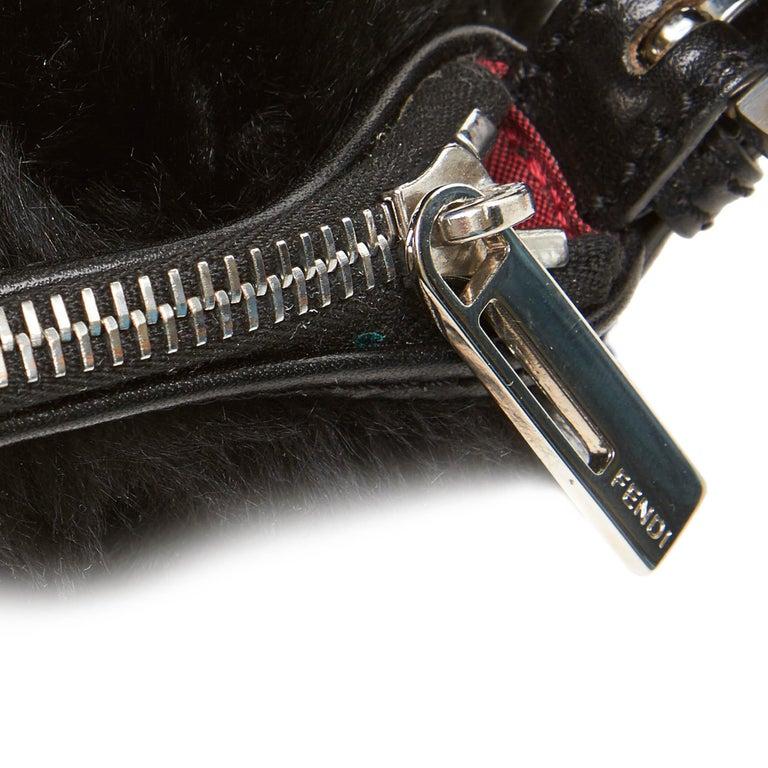 Fendi Black Fur Handbag For Sale 4