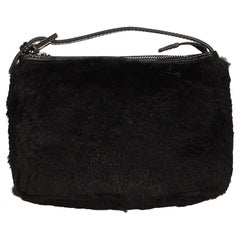 Fendi Black Fur Handbag