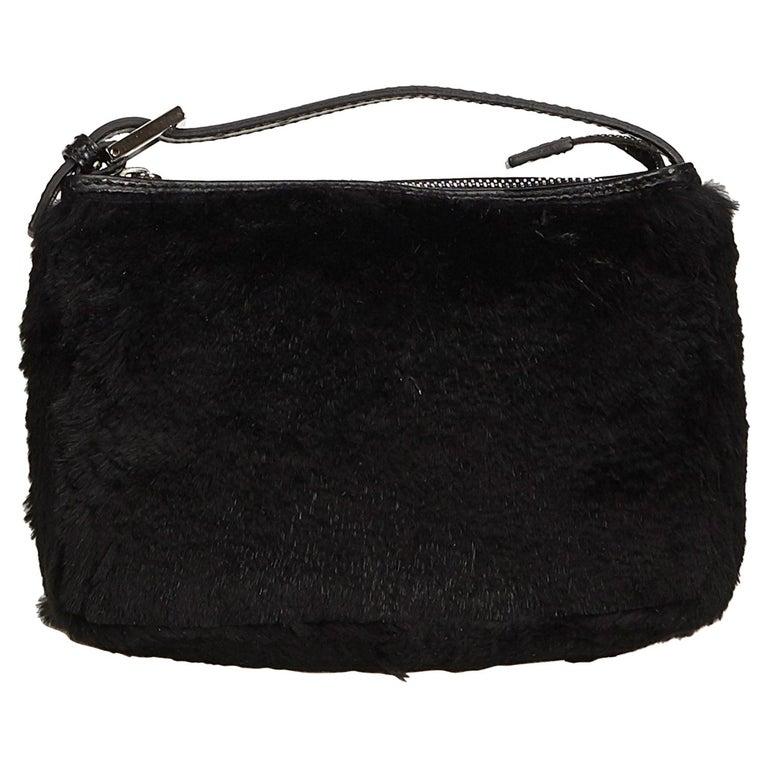 Fendi Black Fur Handbag For Sale