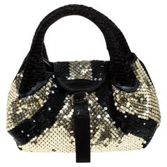 Fendi Black/Gold Sequin Spy Bag