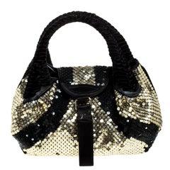 Fendi Black/Gold Sequin Spy Bag