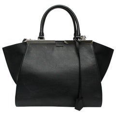 Fendi Black Leather 2Jour Bag