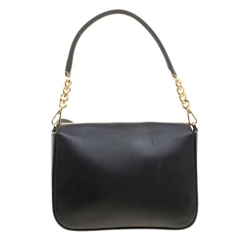 Women's Fendi Black Leather 3Baguette Shoulder Bag
