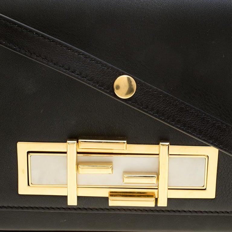 Fendi Black Leather 3Baguette Shoulder Bag 1