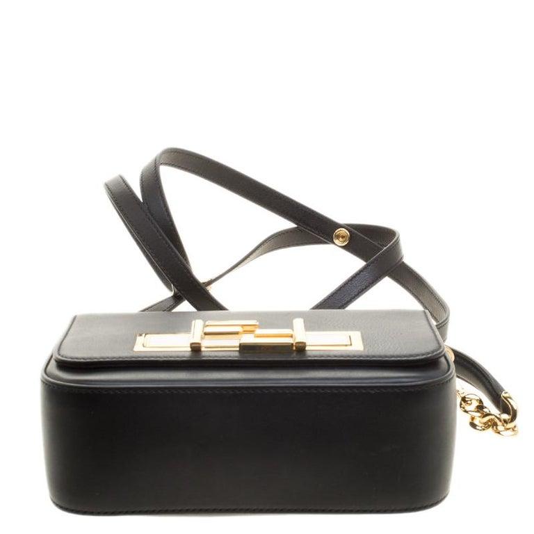 Fendi Black Leather 3Baguette Shoulder Bag 2
