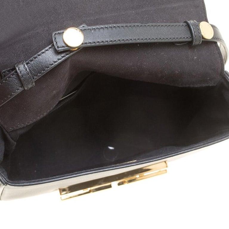 Fendi Black Leather 3Baguette Shoulder Bag 3