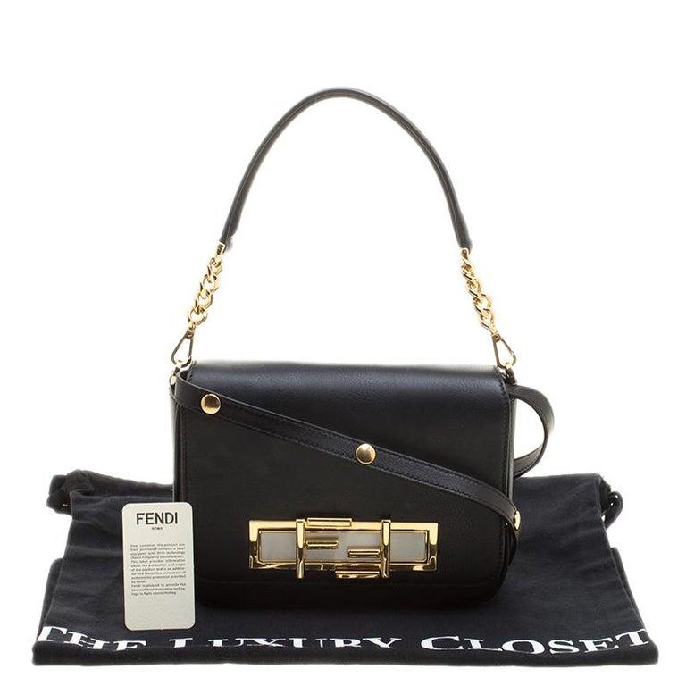Fendi Black Leather 3Baguette Shoulder Bag 5