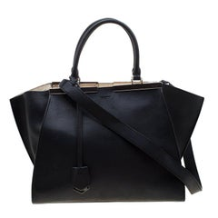 Fendi Black Leather 3Jours Tote