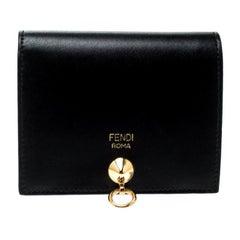 Fendi Black Leather Bifold Wallet
