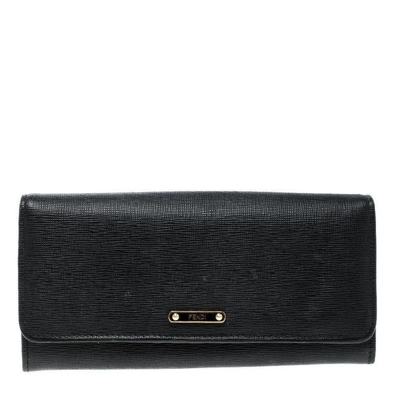 c32432a87d Fendi Black Leather Crayons Continental Wallet For Sale at 1stdibs