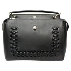 Fendi Black Leather DotCom Bag