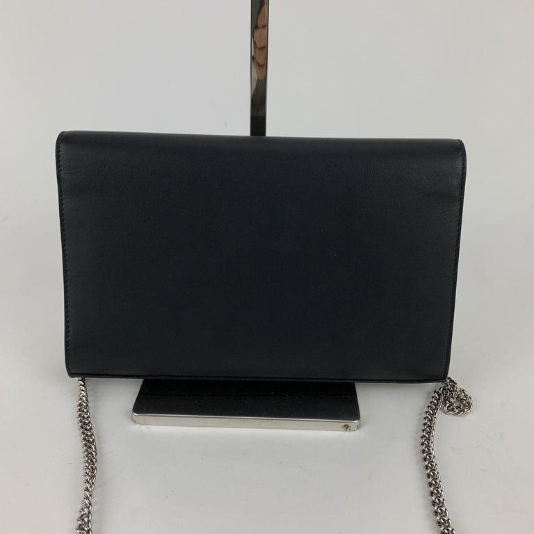 Women's Fendi Black Leather Kan I Wallet On Chain WOC Clutch Bag For Sale
