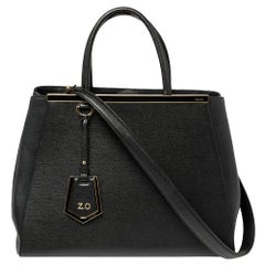 Fendi Black Leather Medium 2Jours Tote
