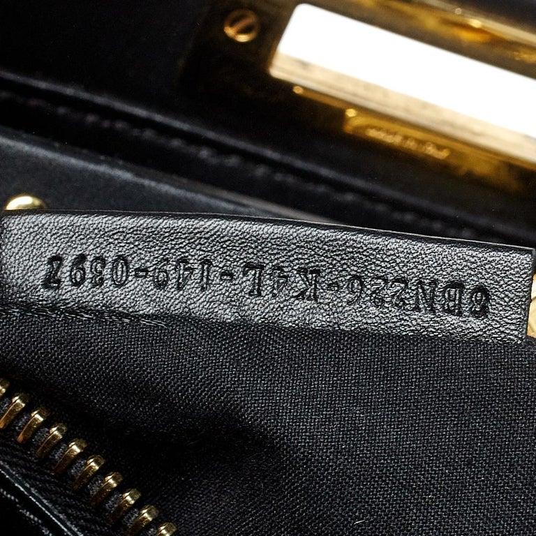 Fendi Black Leather Medium Peekaboo Top Handle Bag 1
