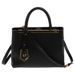Fendi Black Leather Mini 2Jours Tote