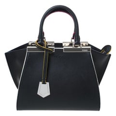 Fendi Black Leather Mini 3Jours Tote